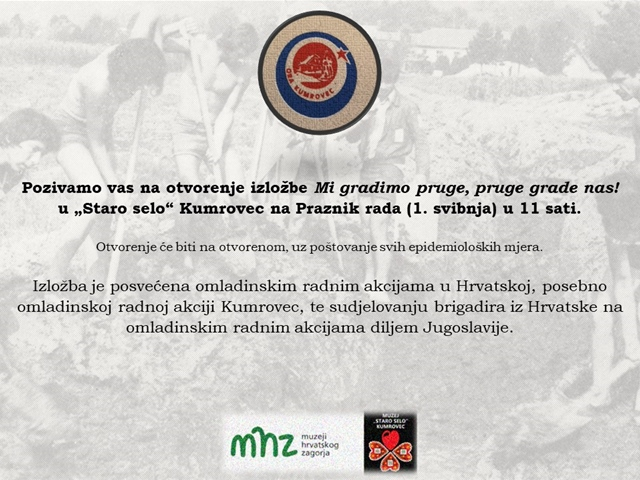 Opening of the exhibition Mi gradimo pruge, pruge grade nas- 01. 05. 2021. at 11